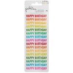 Happy Birthday Clear Repeat Stickers 2/Pkg